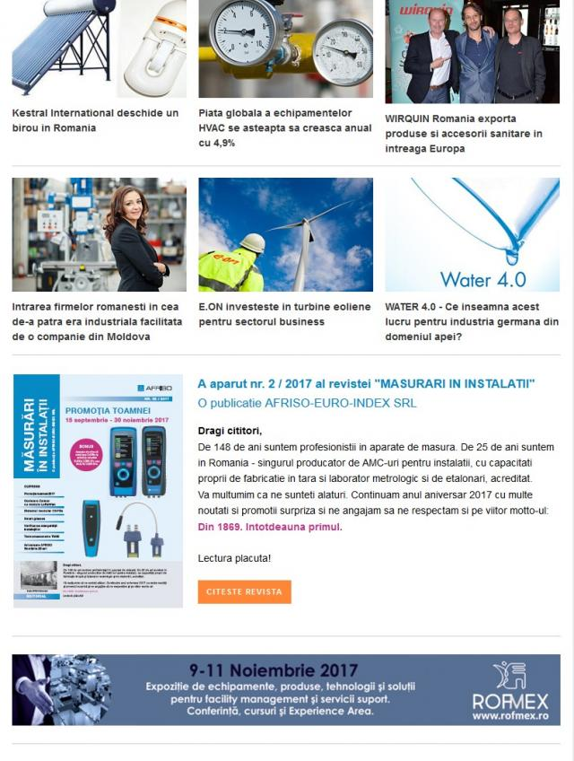 Newsletter InstalNews nr. 119, Octombrie
